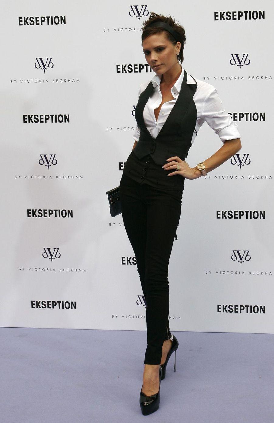 Victoria Beckham àMadrid, le 16 octobre 2008