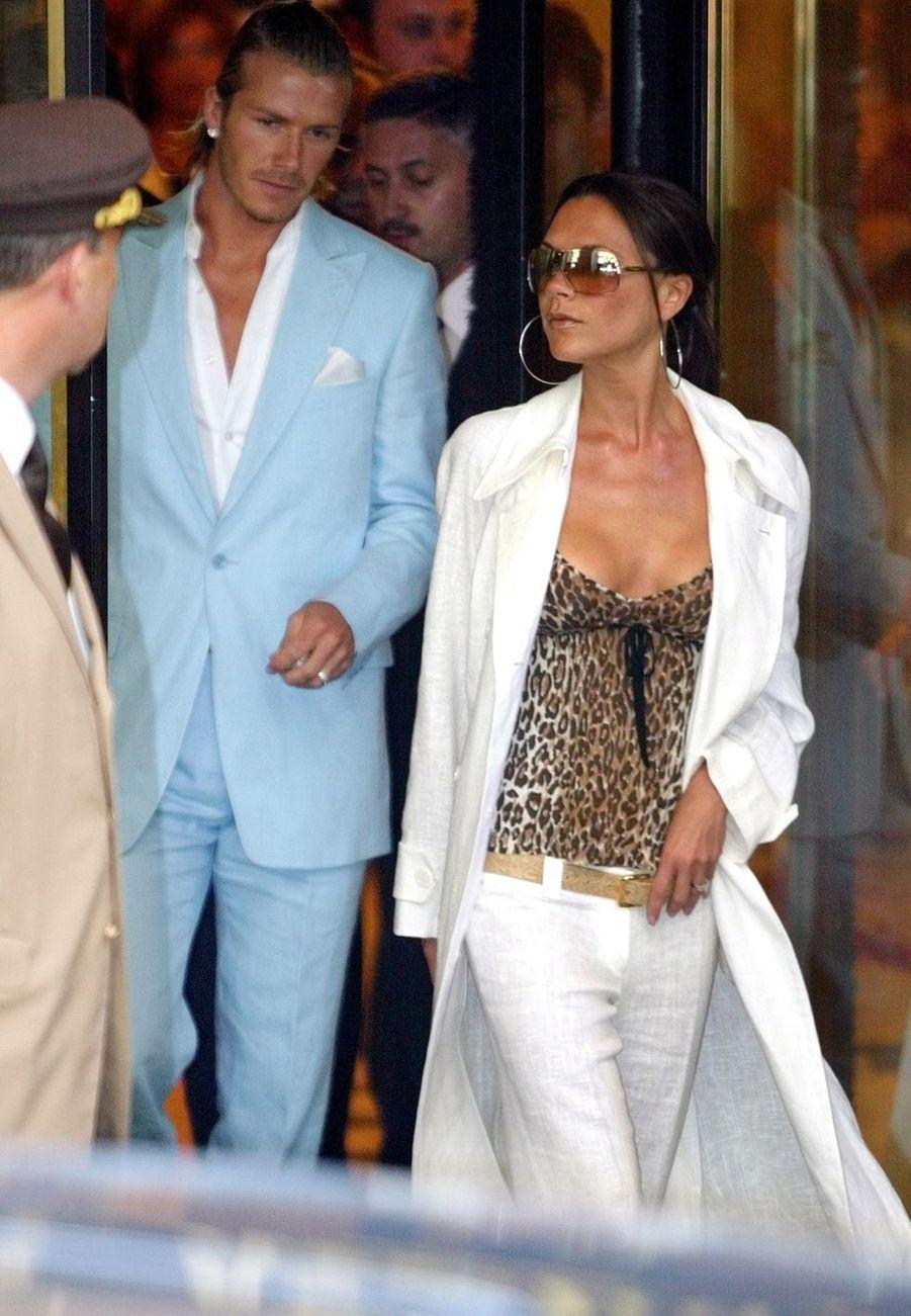 Victoria et David Beckham àMadrid, le 2 juillet 2003