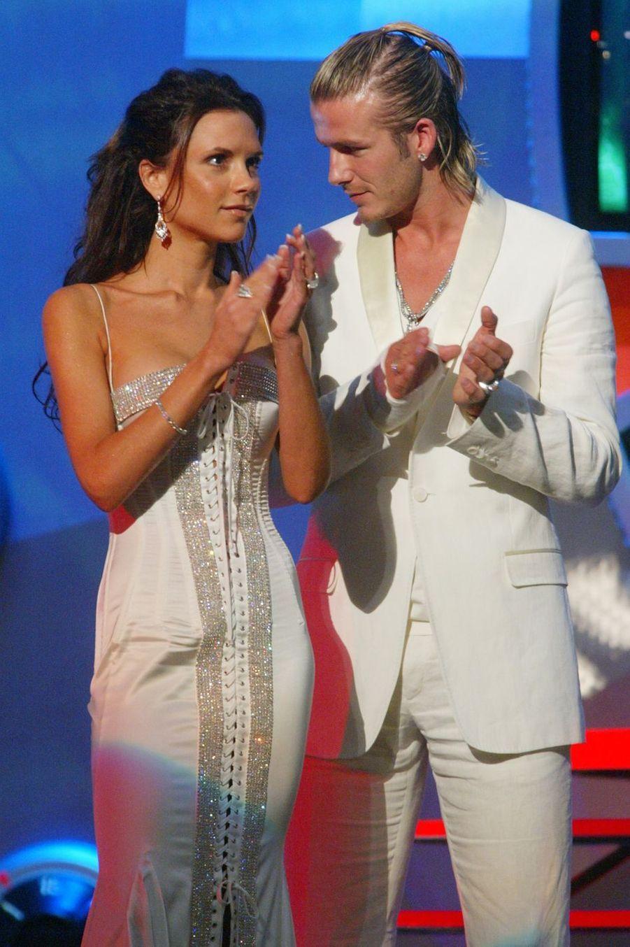 Victoria et David Bekcham à Los Angeles, le31 mai 2003