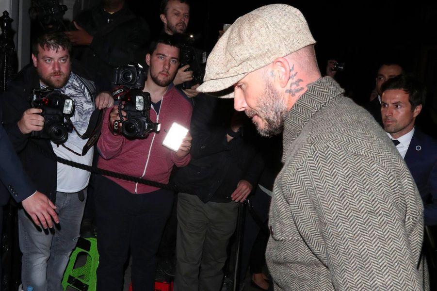 """David Beckham à la soirée anniversaire """"Victoria Beckham x Vogue"""", à Londres le 16 septembre 2018"""