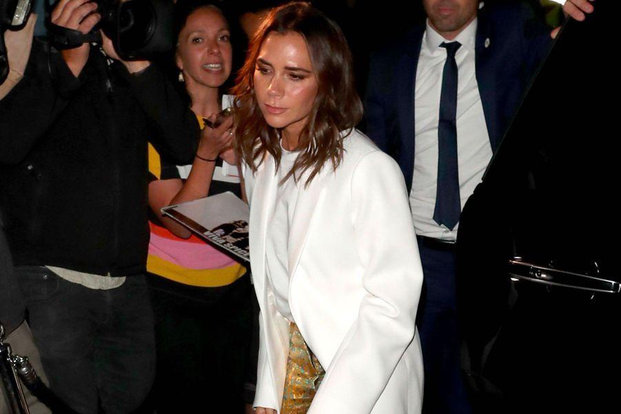 """Victoria Beckham à la soirée anniversaire """"Victoria Beckham x Vogue"""", à Londres le 16 septembre 2018"""
