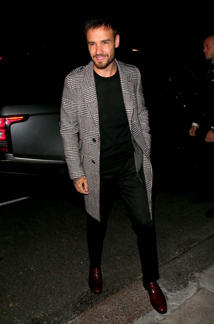 """Liam Payne à la soirée anniversaire """"Victoria Beckham x Vogue"""", à Londres le 16 septembre 2018"""