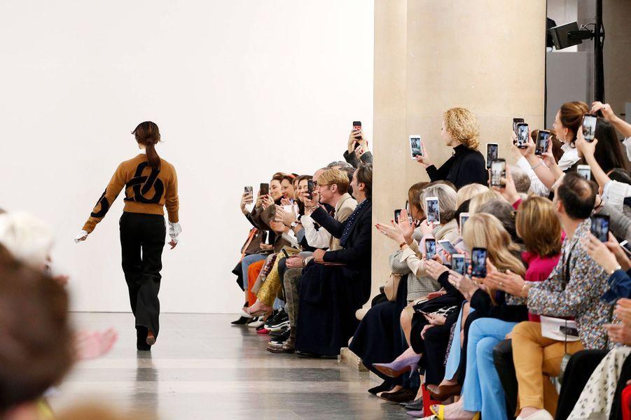 La famille Beckham lors du défilé de Victoria Beckham lors de la London Fashion Week, le 17 février 2019