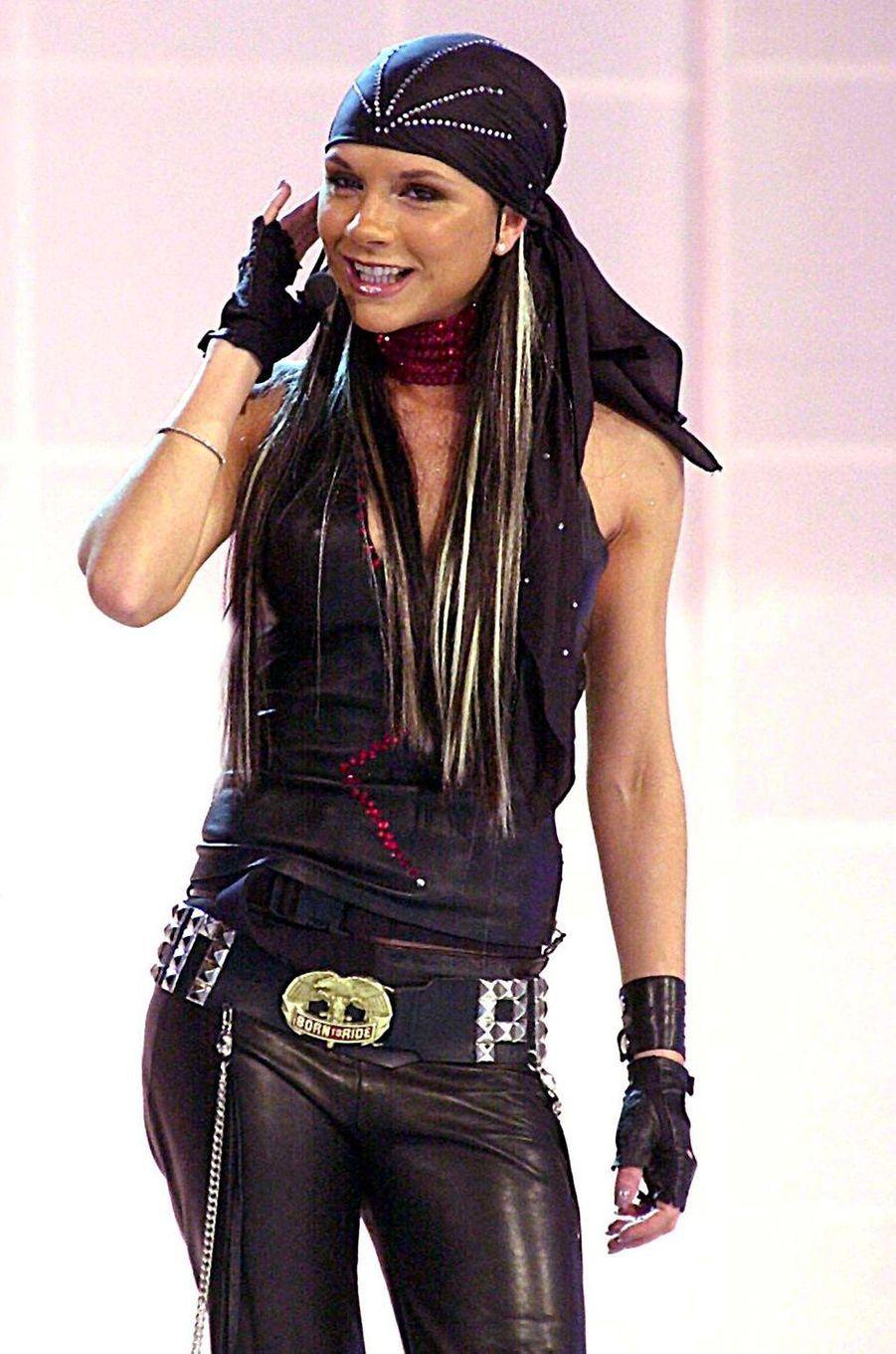 Victoria Beckham, aka Posh Spice, le 7 octobre 2001