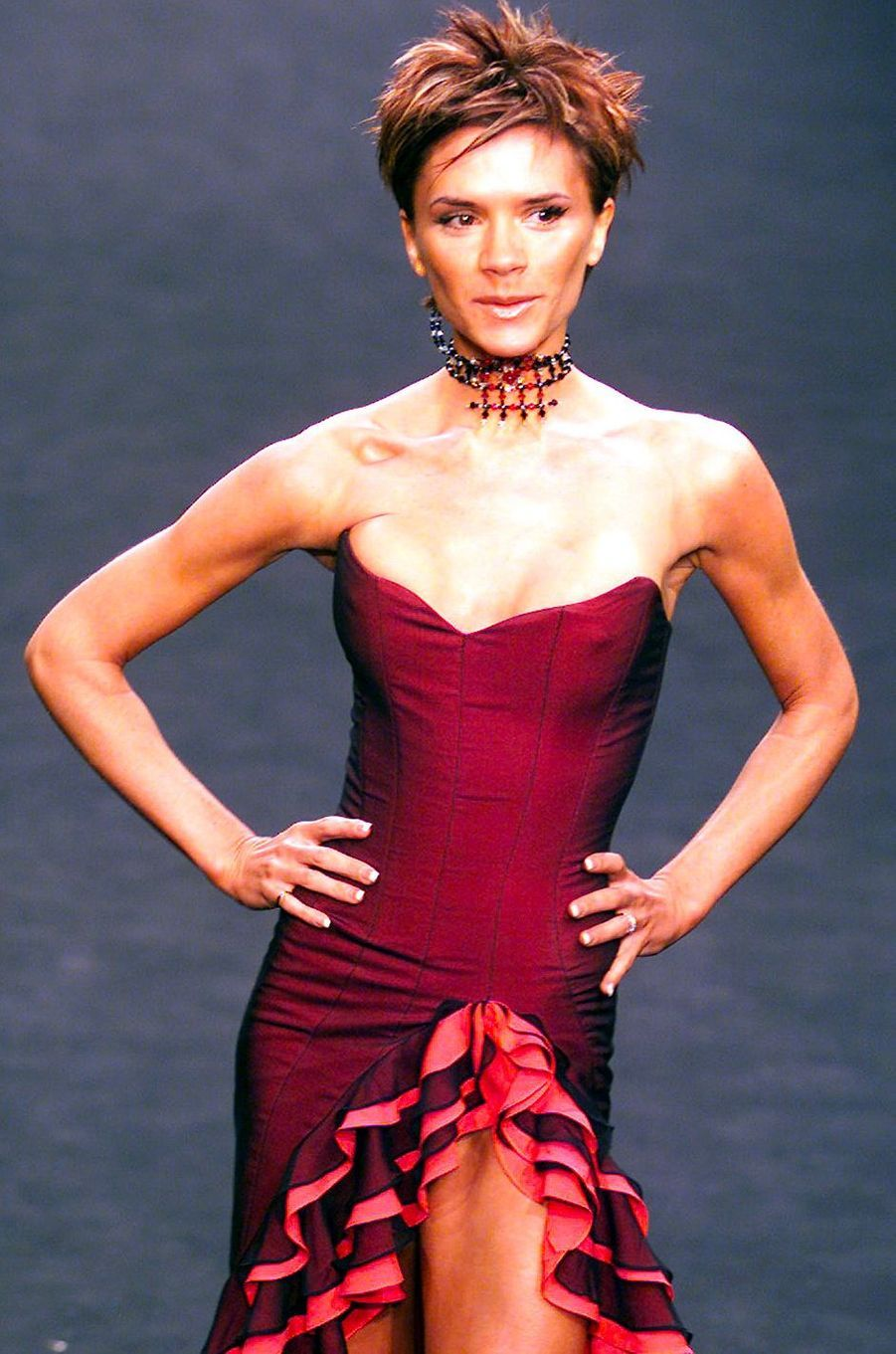 Victoria Beckham, aka Posh Spice, le 16 février 2000
