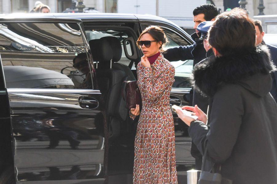 Victoria Beckham, place Vendôme à Paris le 17 janvier 2018