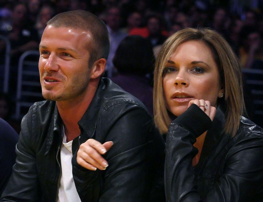 David et Victoria Beckham en 2008