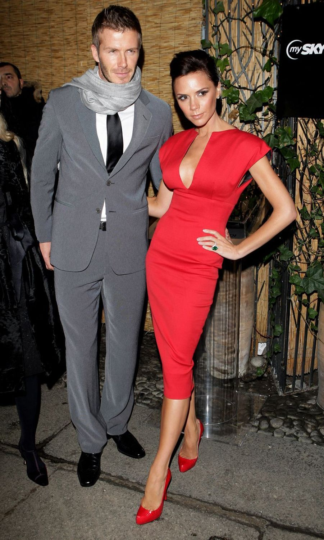 David et Victoria Beckham en 2010