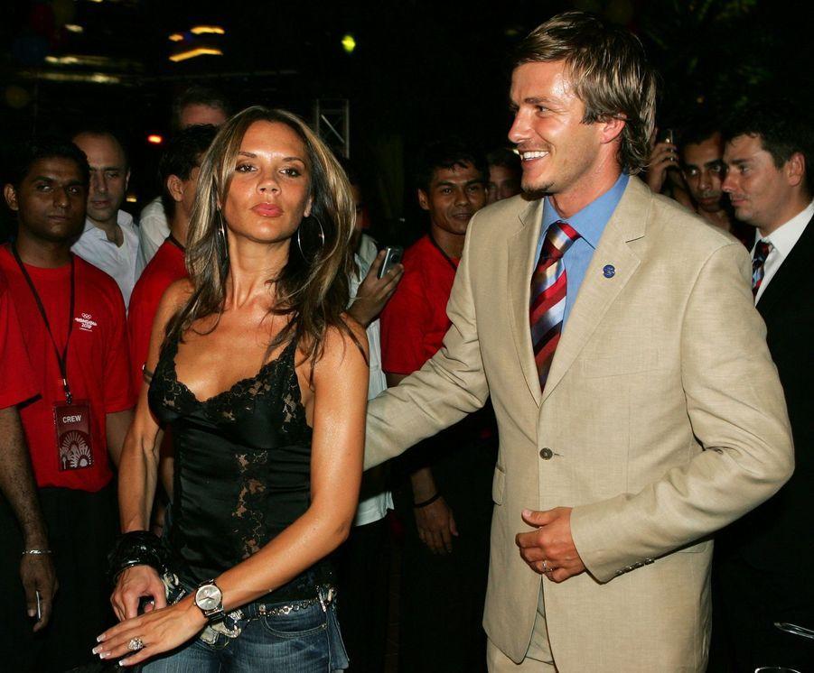 David et Victoria Beckham en 2005