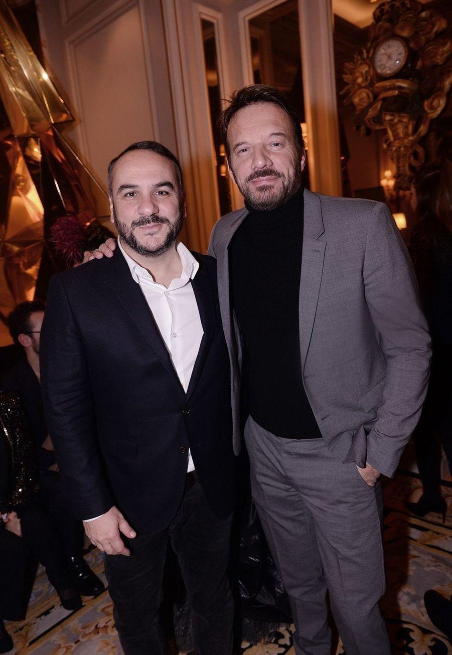 François-Xavier Demaison et Samuel Le Bihanau Four Seasons Hotel George V à Paris le 7 décembre 2019