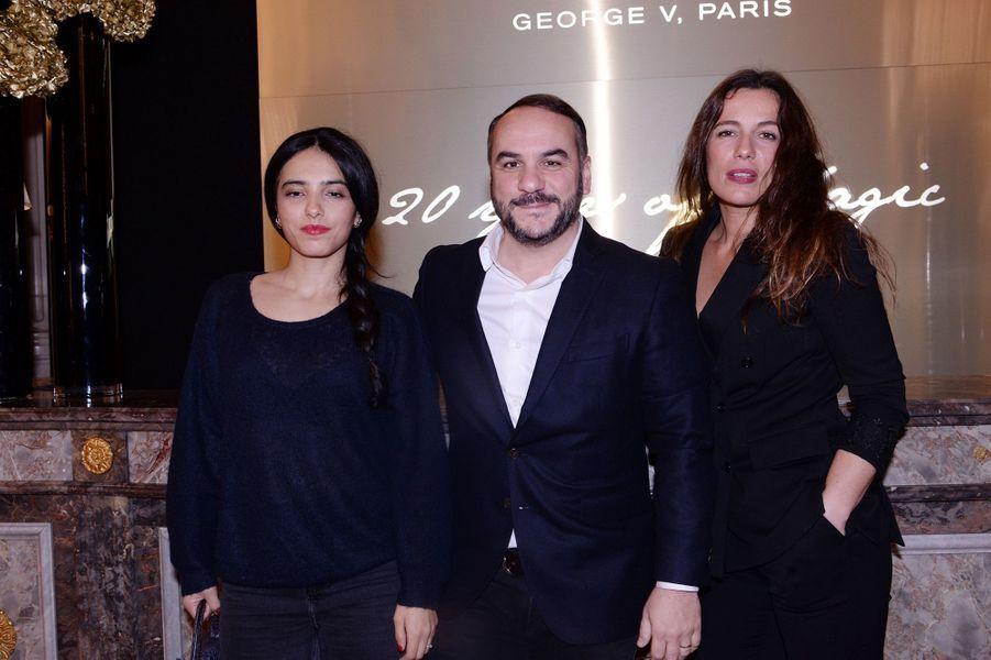 Hafsia Herzi, François-Xavier Demaison et Zoé Félixau Four Seasons Hotel George V à Paris le 7 décembre 2019