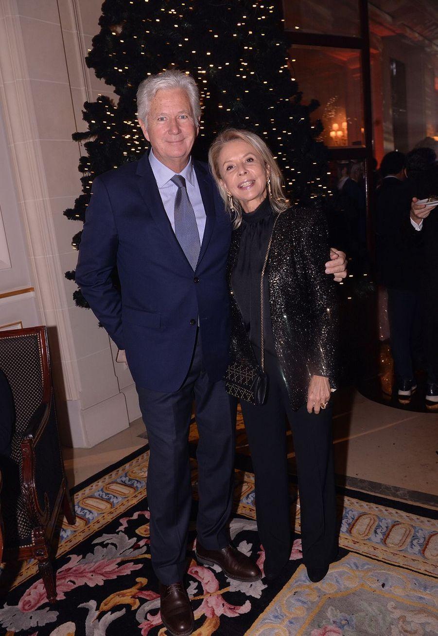 Pierre Dhostel et sa femme Carole Bellemareau Four Seasons Hotel George V à Paris le 7 décembre 2019