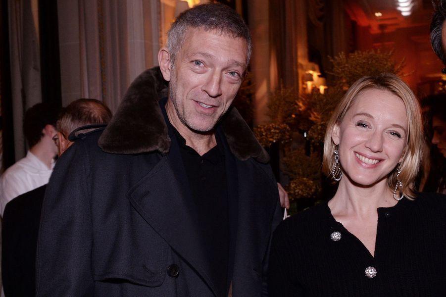 Vincent Cassel et Ludivine Sagnier au Four Seasons Hotel George V à Paris le 7 décembre 2019