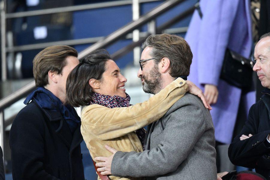 Alessandra Subletdans les tribunes du Parc des Princes, le dimanche 17 mars