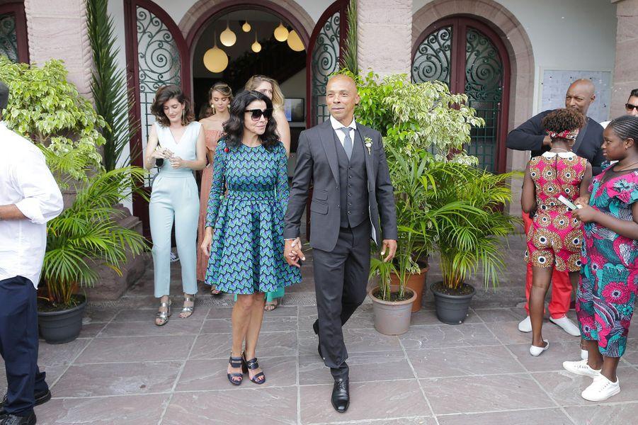 Le père de Tina Kunakey au mariage de sa fille, vendredi 24 août