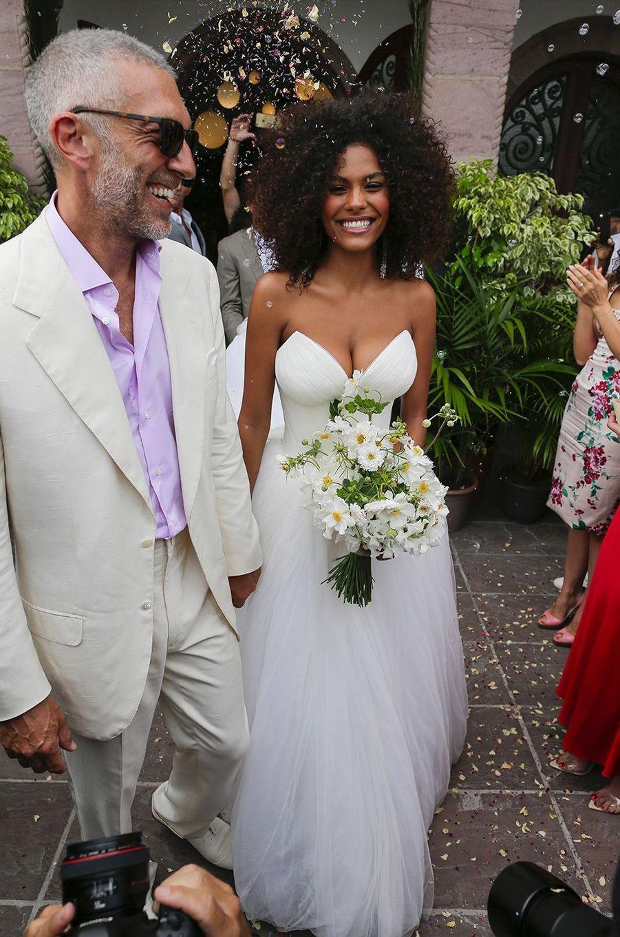 Le mariage de Vincent Cassel et Tina Kunakey, vendredi 24 août