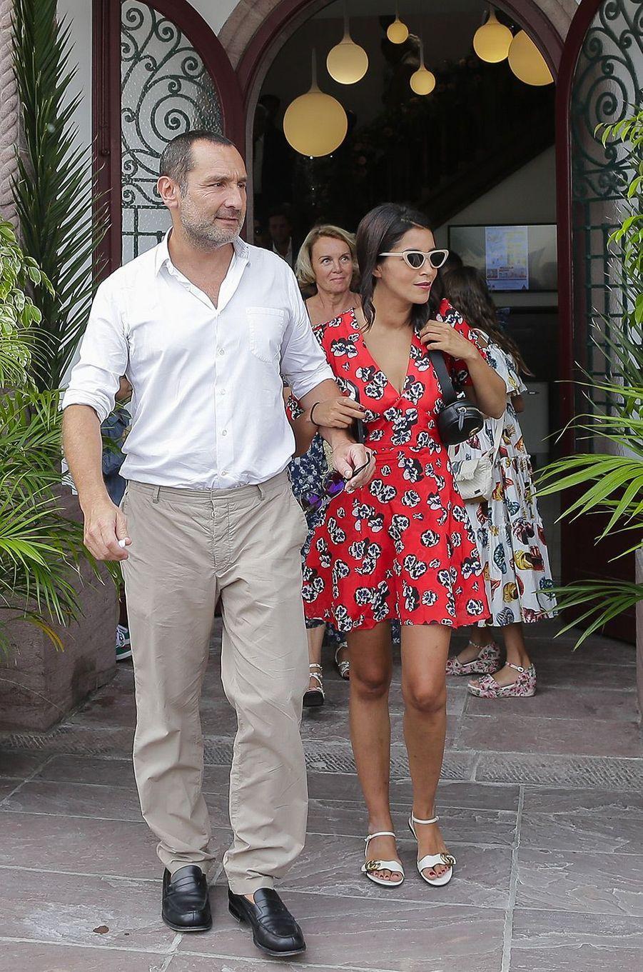 Gilles Lellouche et Leïla Bekhti mariage de Vincent Cassel et Tina Kunakey, vendredi 24 août