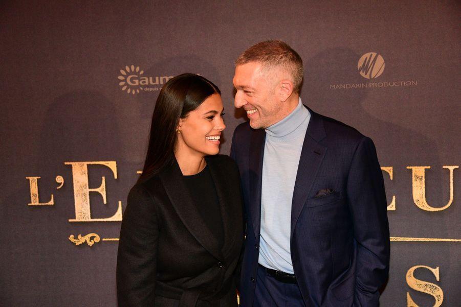 Vincent Cassel et Tina Kunakey à l'avant-première de «L'Empereur de Paris» à Paris en décembre 2018