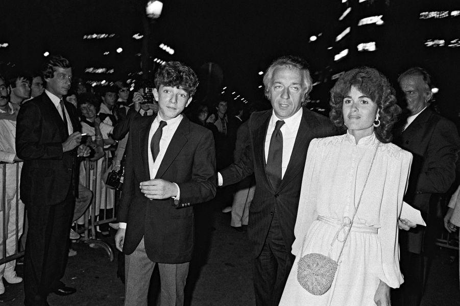 Vincent Cassel, avec son père Jean-Pierre et sa belle-mère Anna, en 1981