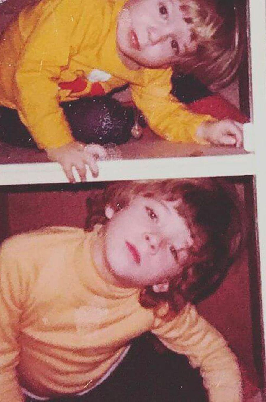 Vincent Cassel, avec son frère Mathias, quand il était enfant