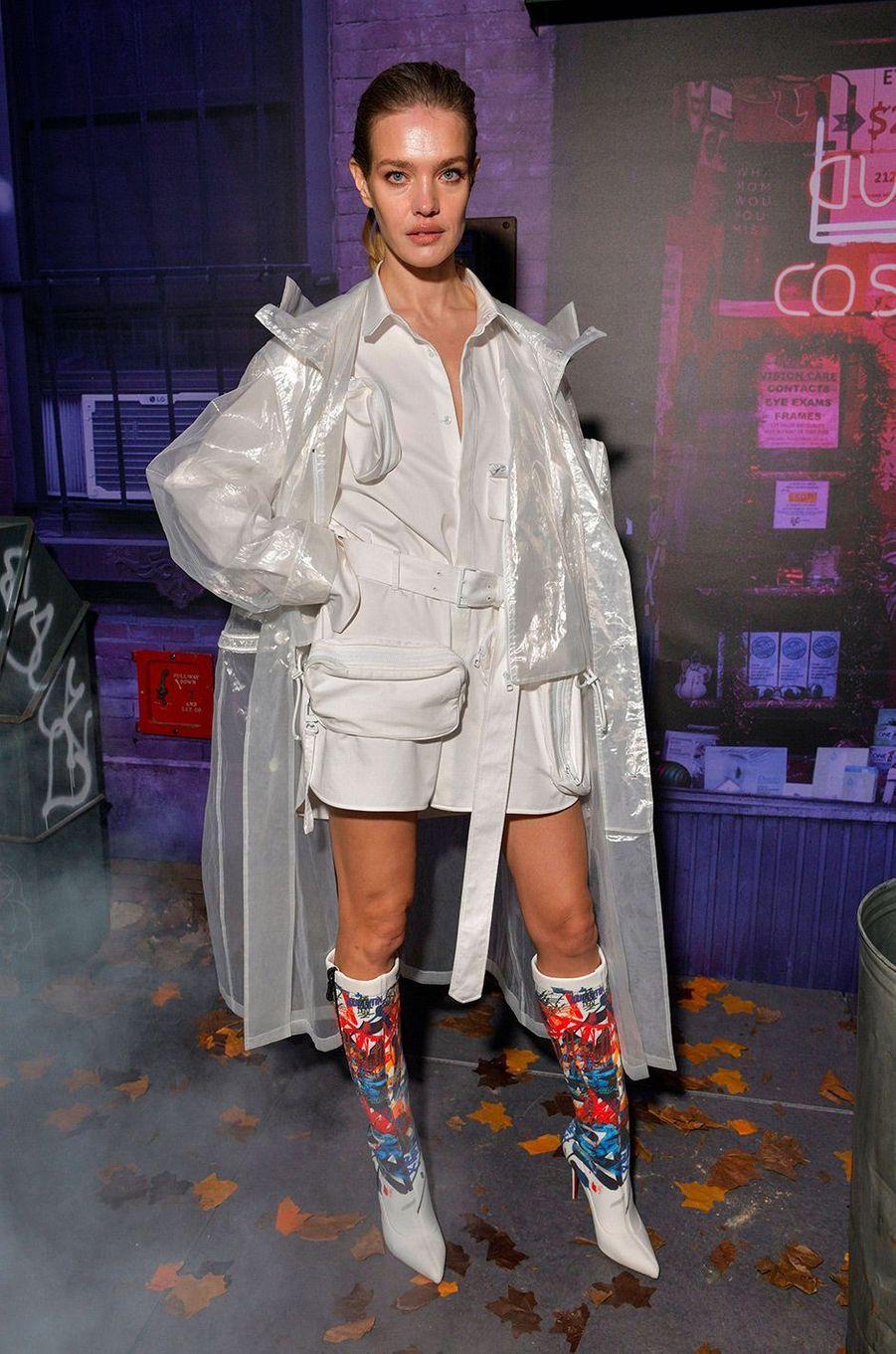 Natalia Vodianova à la présentation de la collection homme automne-hiver 2019 à Paris, jeudi 17 janvier