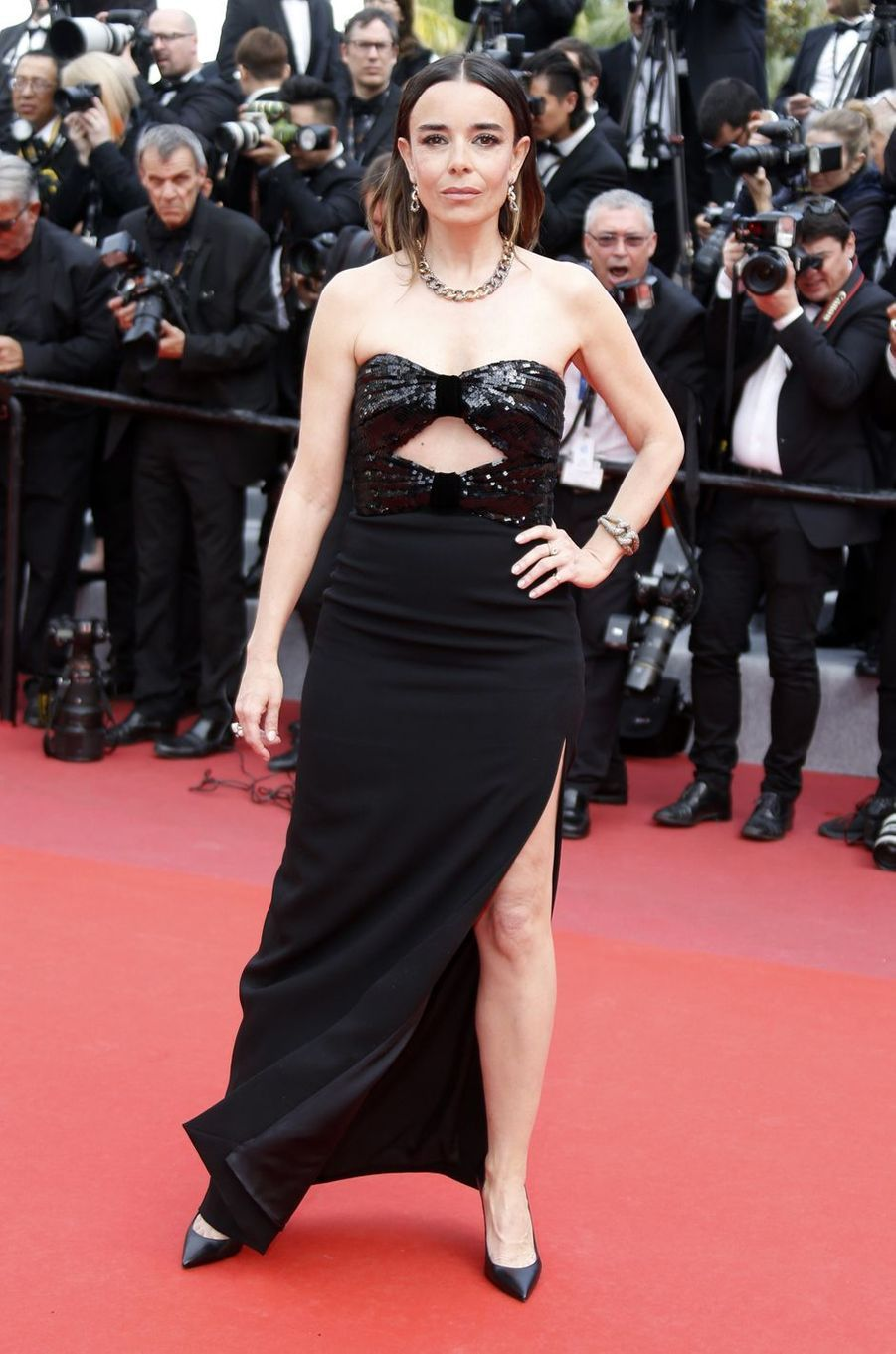 Elodie Bouchez lors de la montée des marches du film «Once Upon A Time In Hollywood» à Cannes le 21 mai 2019
