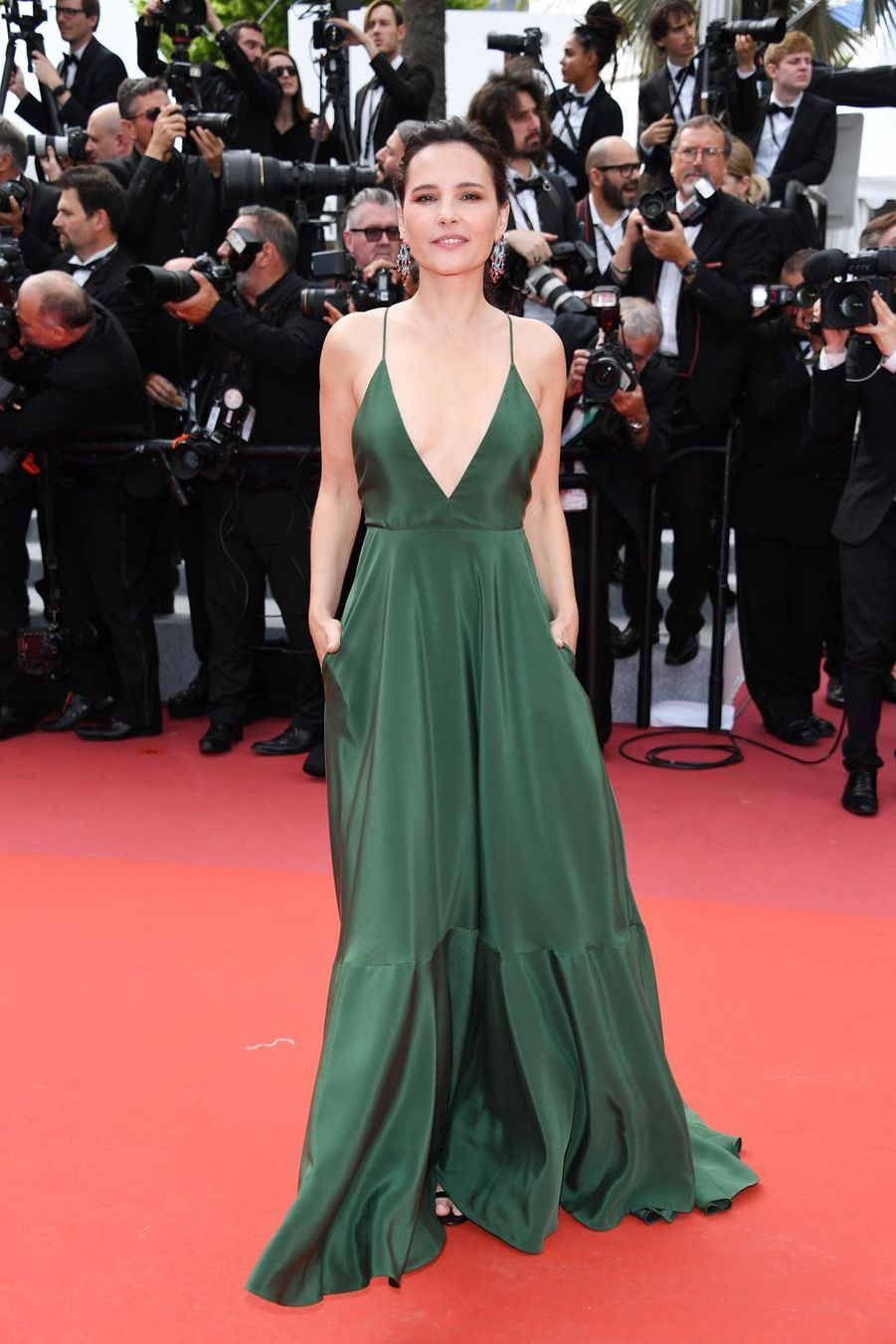 Virginie Ledoyen lors de la montée des marches du film «Once Upon A Time In Hollywood» à Cannes le 21 mai 2019