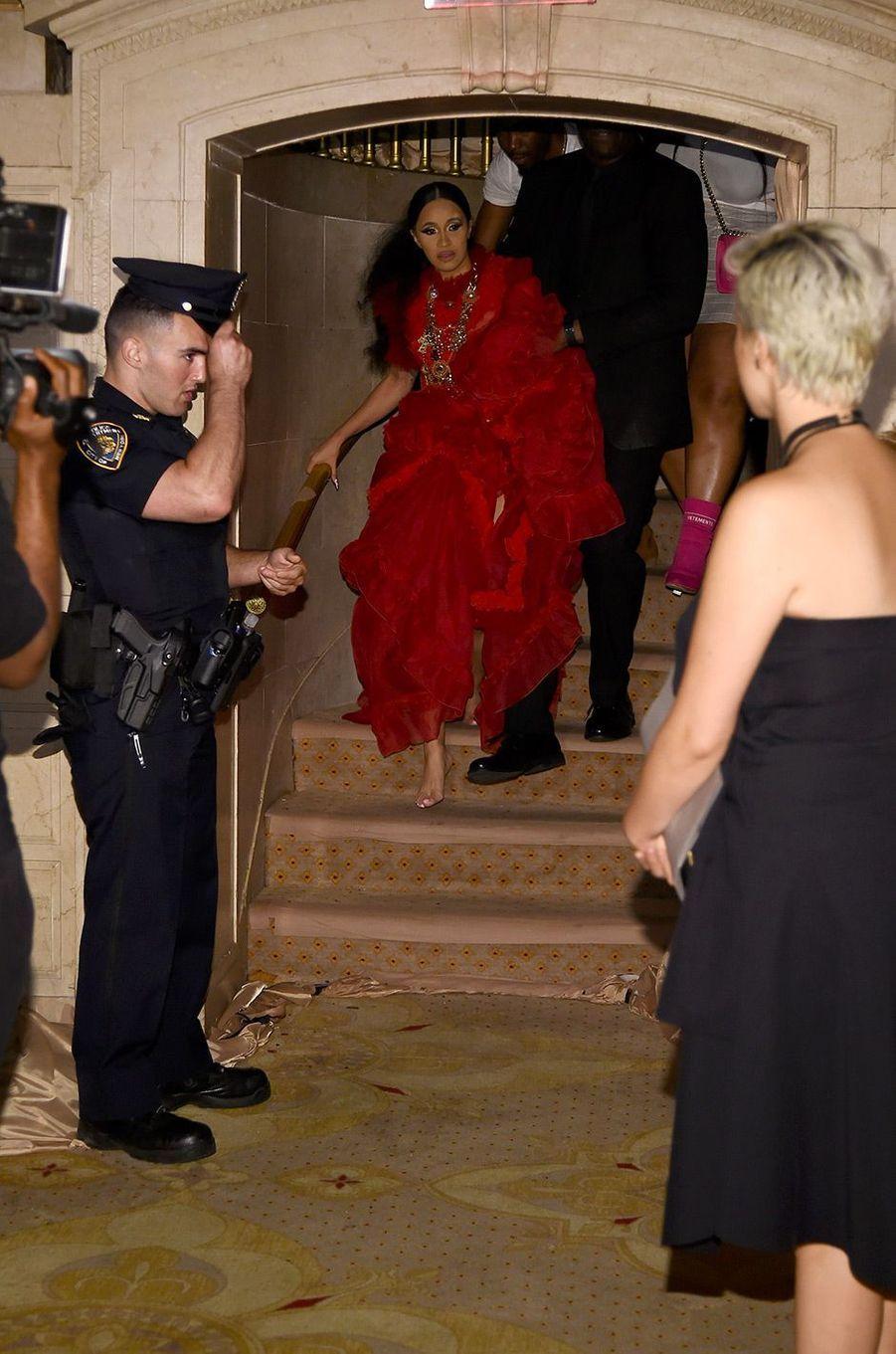 Cardi B après son altercation avec Nicki Minaj, à New York, vendredi 7 septembre