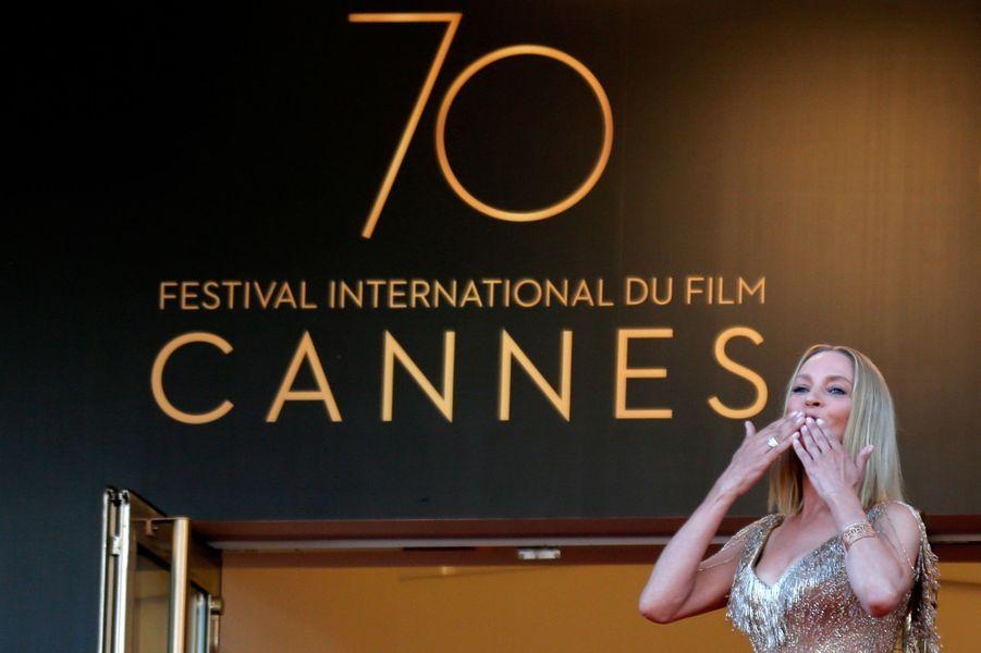 Uma Thurman à Cannes