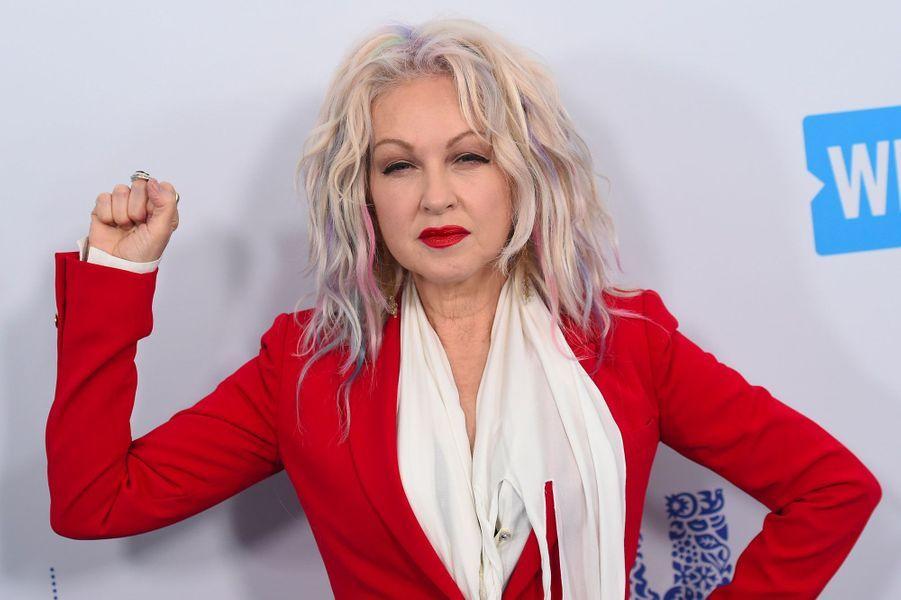 Cyndi Lauper à la soirée WE Day California le 19 avril 2018