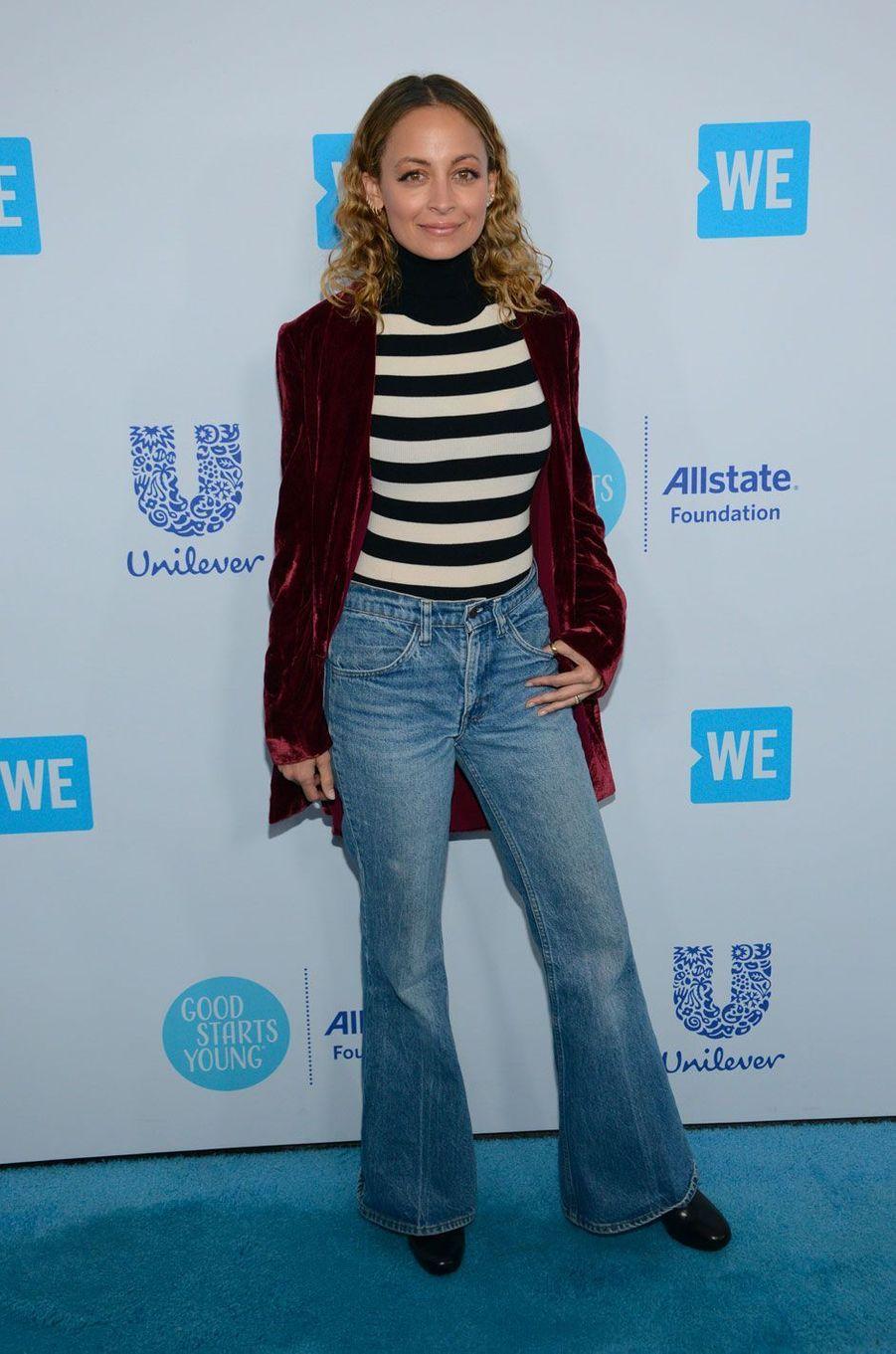 Nicole Richie à la soirée WE Day California le 19 avril 2018