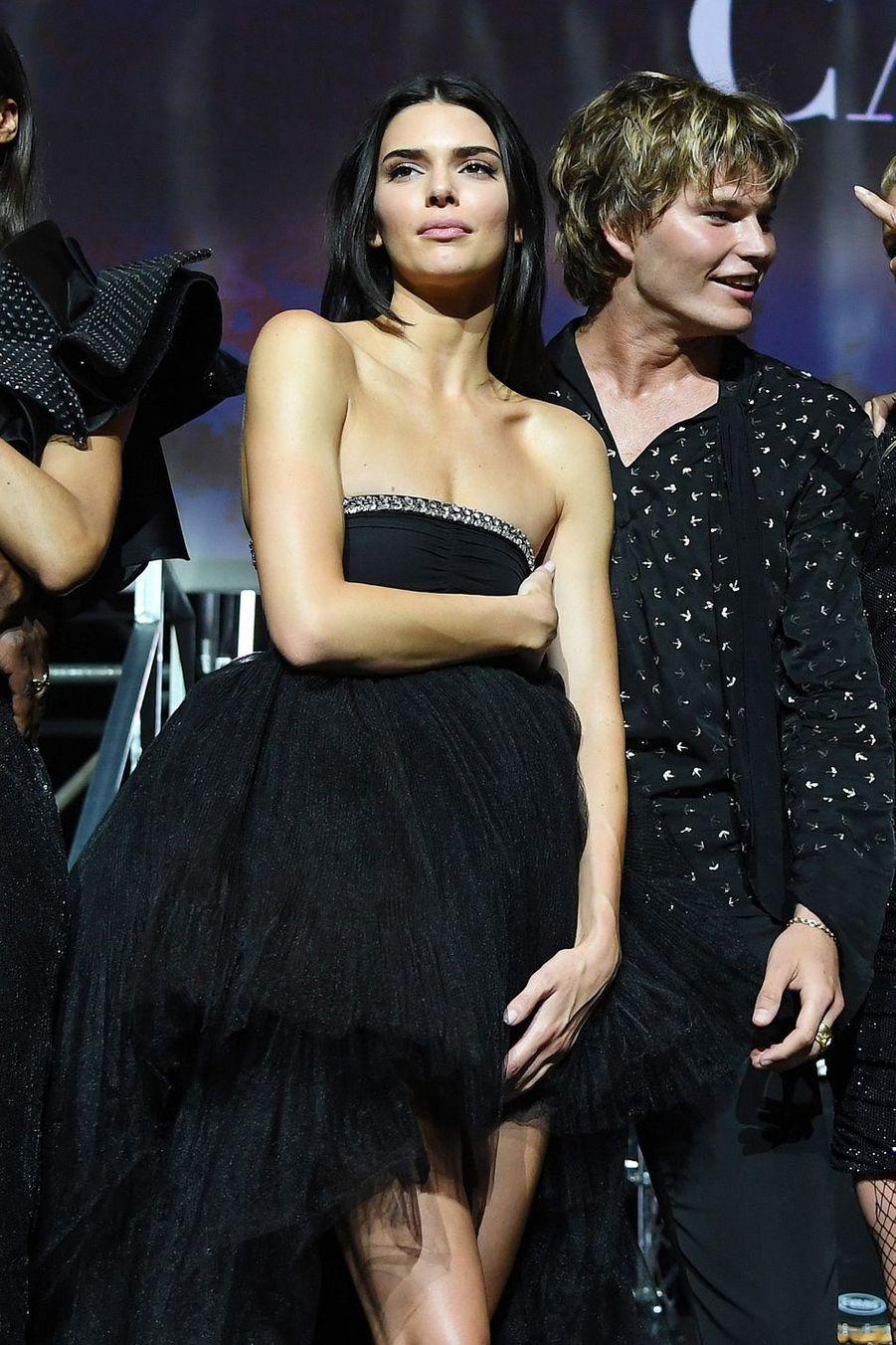 Kendall Jenner lors duGala de l'amFAR à Cannes, le 23 mai 2019