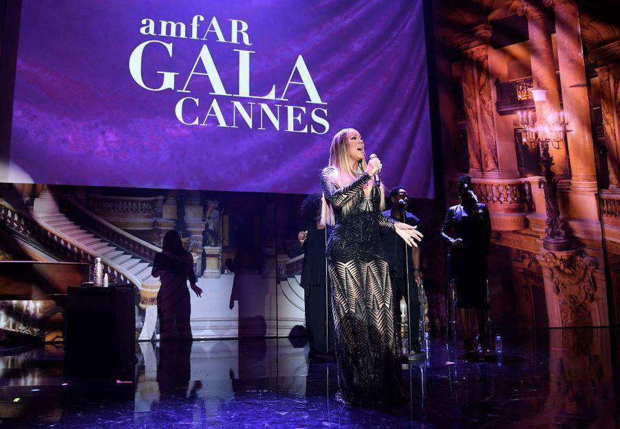 Mariah Careylors duGala de l'amFAR à Cannes, le 23 mai 2019