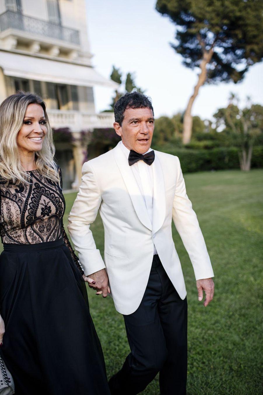 Nicole Kimpel et Antonio Banderaslors duGala de l'amFAR à Cannes, le 23 mai 2019