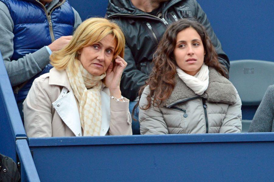 Xisca Perello avec la mère de Rafael Nadal, Ana Maria Parera, à Barcelone en avril 2013