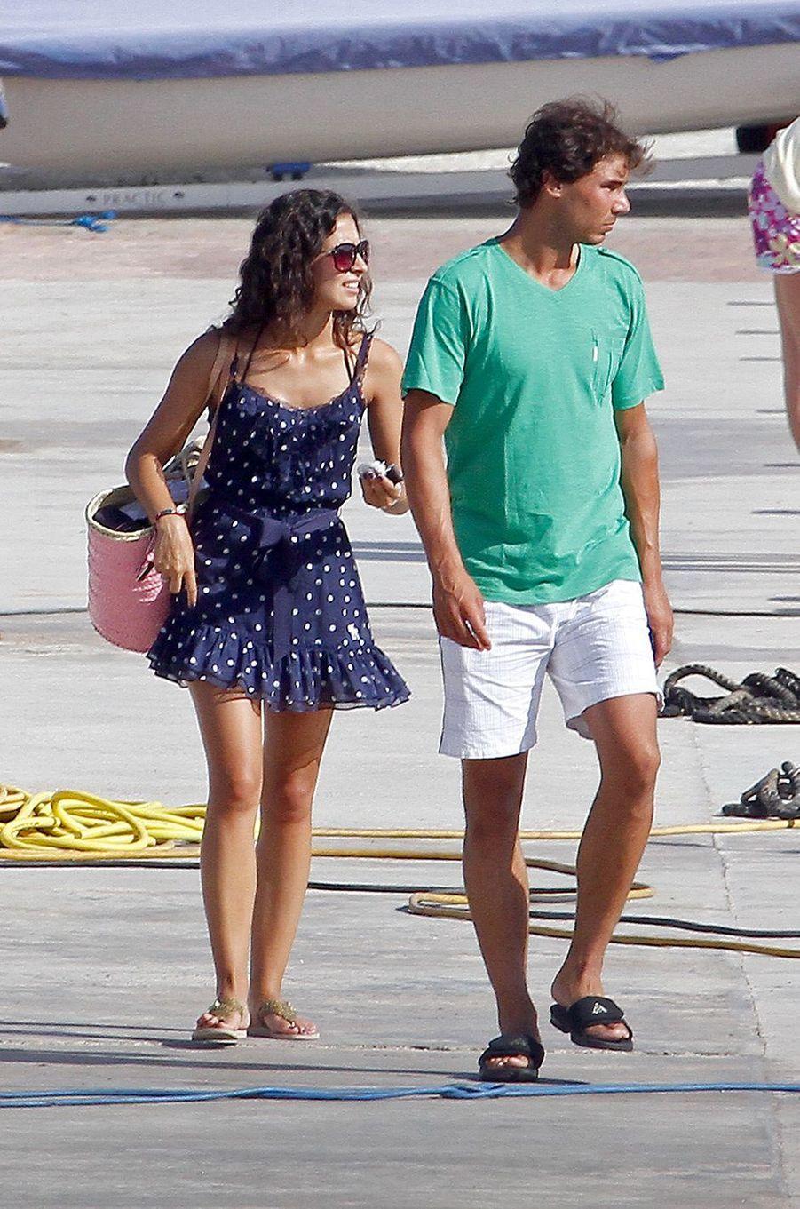 Xisca Perello et Rafael Nadal à Majorque en juillet 2013