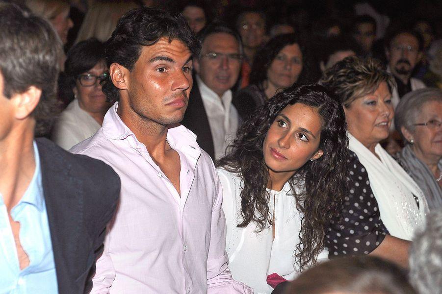Xisca Perello et Rafael Nadal au concert de Julio Iglesias à Barcelone en juin 2013