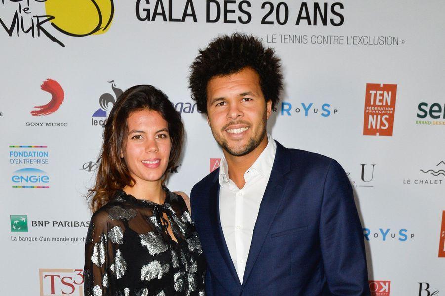 """Jo-Wilfried Tsonga et sa compagne Noura à la soirée de gala des 20 ans de l'association """"Fête le Mur"""""""