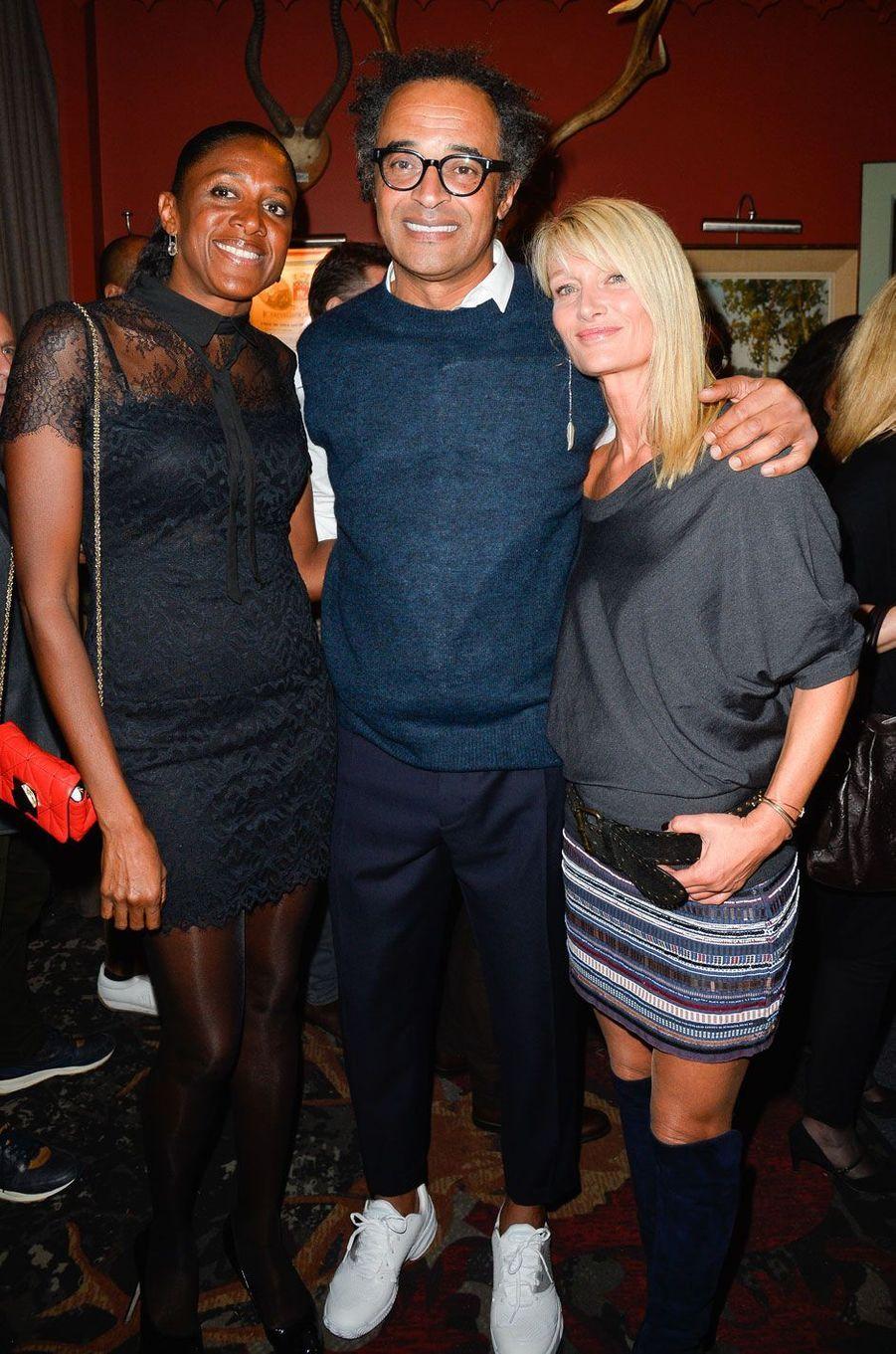 """Marie-José Pérec, Yannick Noah et sa compagne Isabelle Camus à la soirée de gala des 20 ans de l'association """"Fête le Mur"""""""