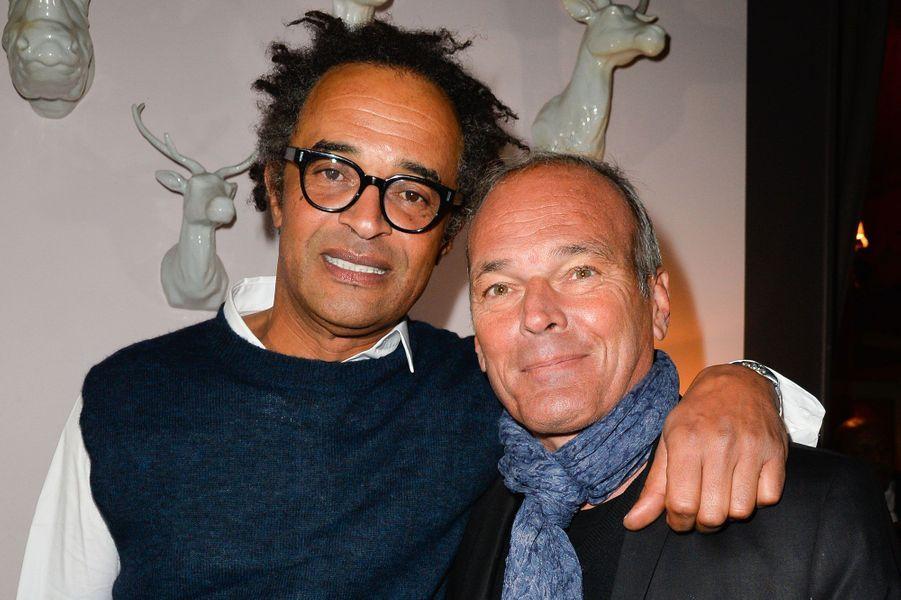 """Yannick Noah et Laurent Baffie à la soirée de gala des 20 ans de l'association """"Fête le Mur"""""""