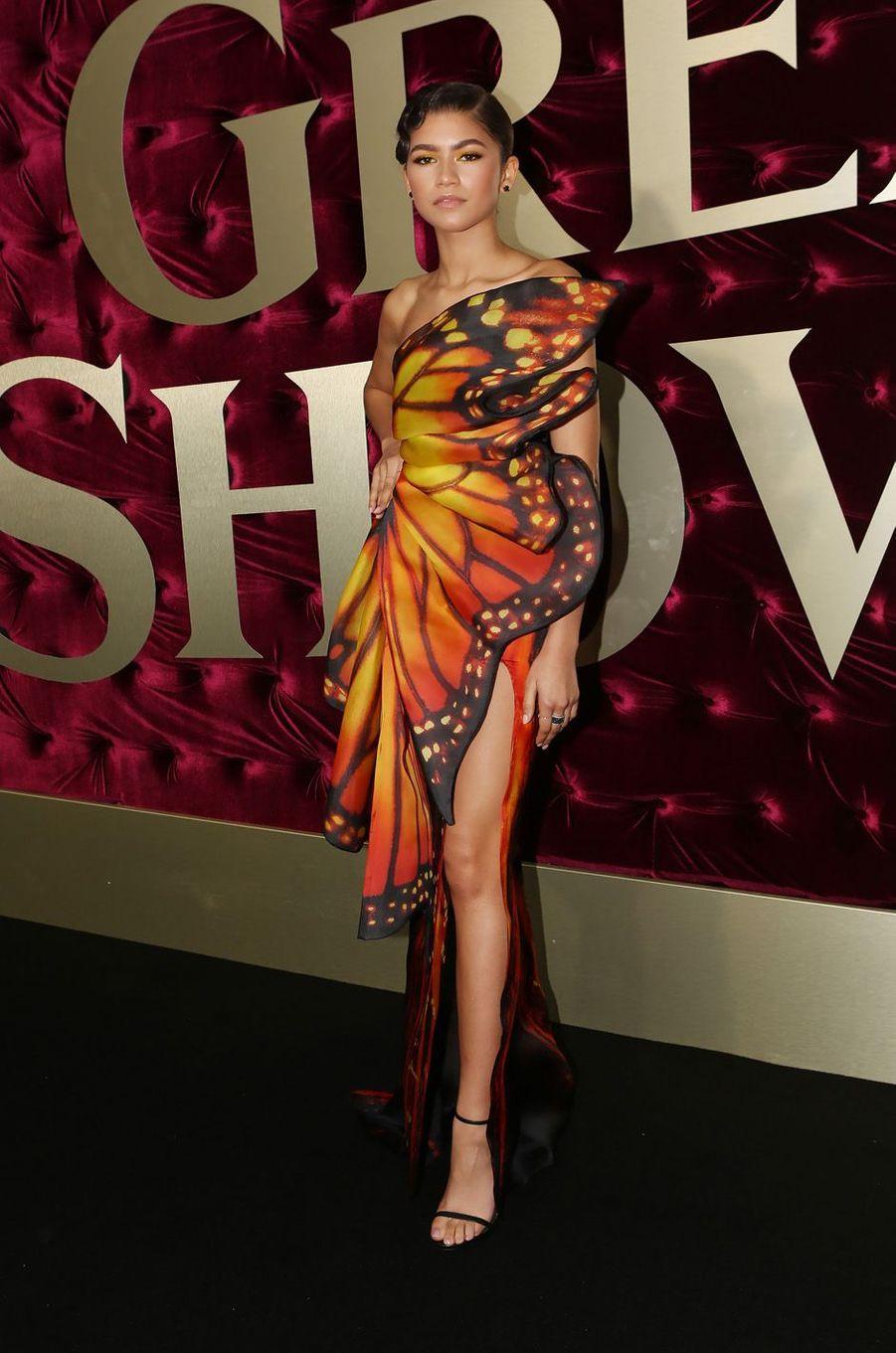 """Zendayaà l'avant-première de """"The Greatest Showman"""", le 20 décembre 2017 à Sydney."""