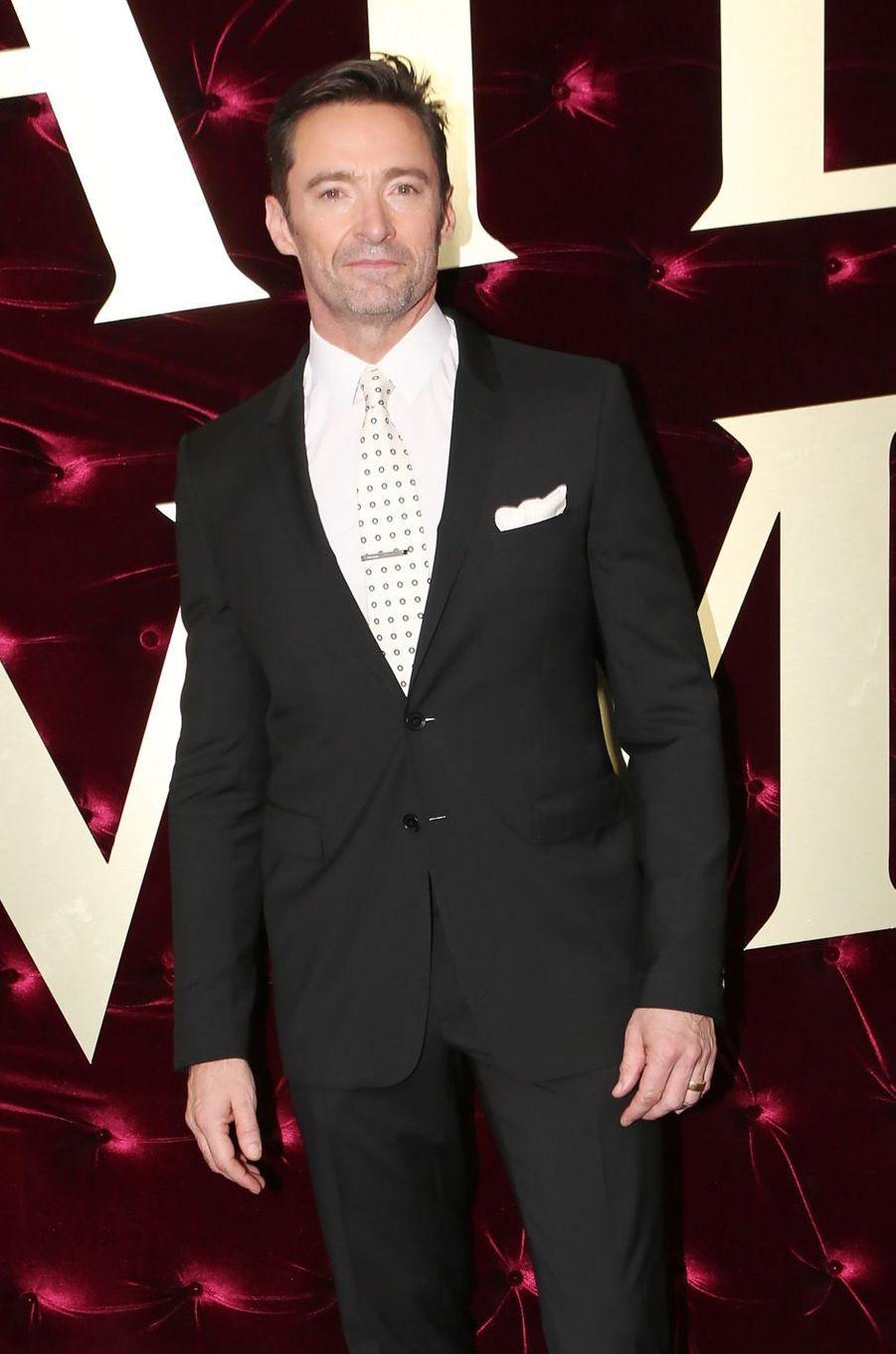 """Hugh Jackmanà l'avant-première de """"The Greatest Showman"""", le 20 décembre 2017 à Sydney."""