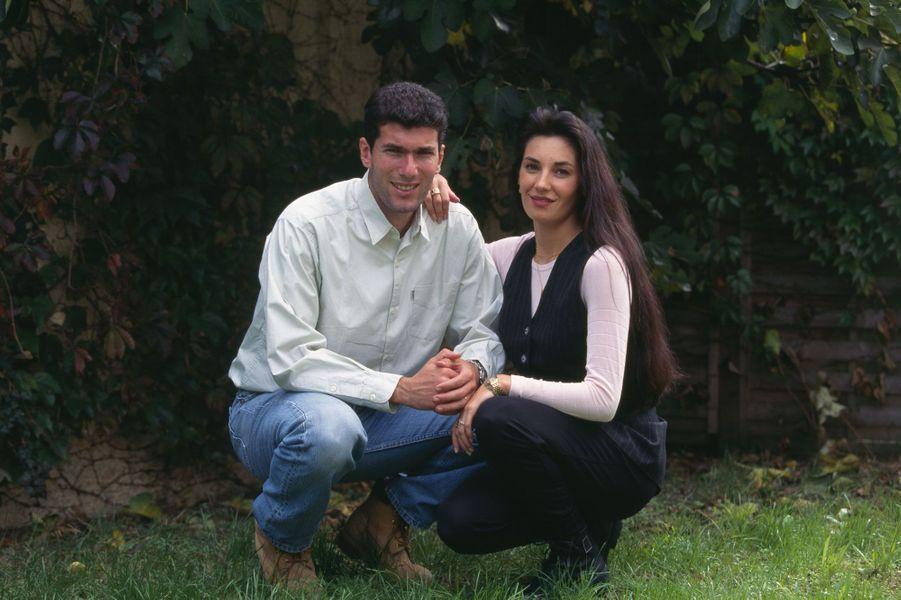 Zinédine Zidane et sa femme Véronique dans les années 90