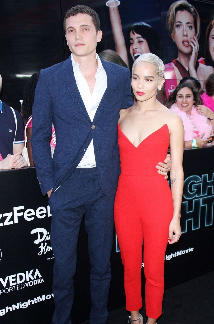 Karl Glusman et Zoë Kravitz à la première du film «Pire soirée» à New York en juin 2017