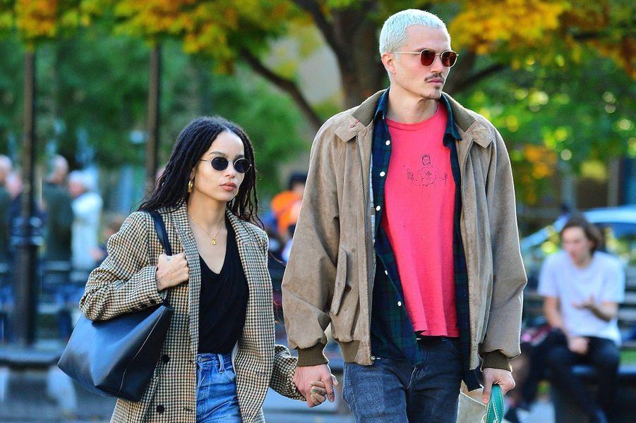 Zoë Kravitz et Karl Glusman à New York en octobre 2019