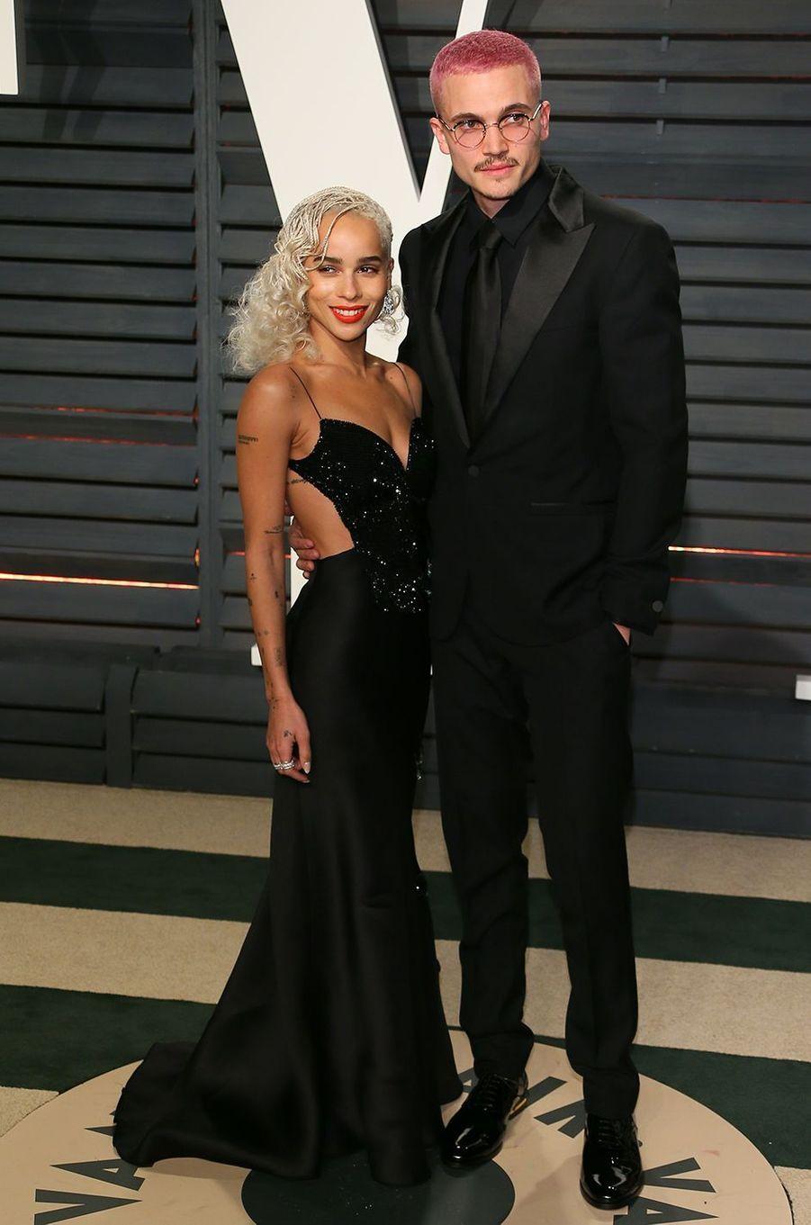 Zoë Kravitz et Karl Glusman à l'after-party des Oscars à Los Angeles en février 2017