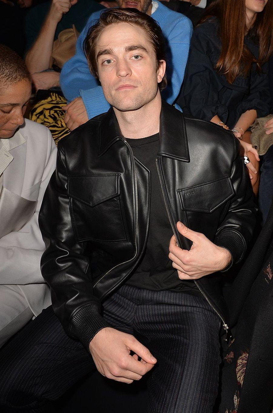 Robert Pattinson au défilé Dior Homme à Paris le 17 janvier 2020