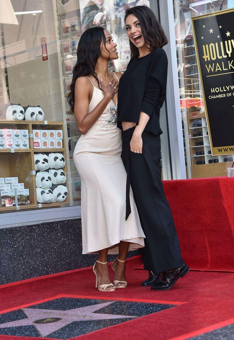 Mila Kunis et Zoe Saldana