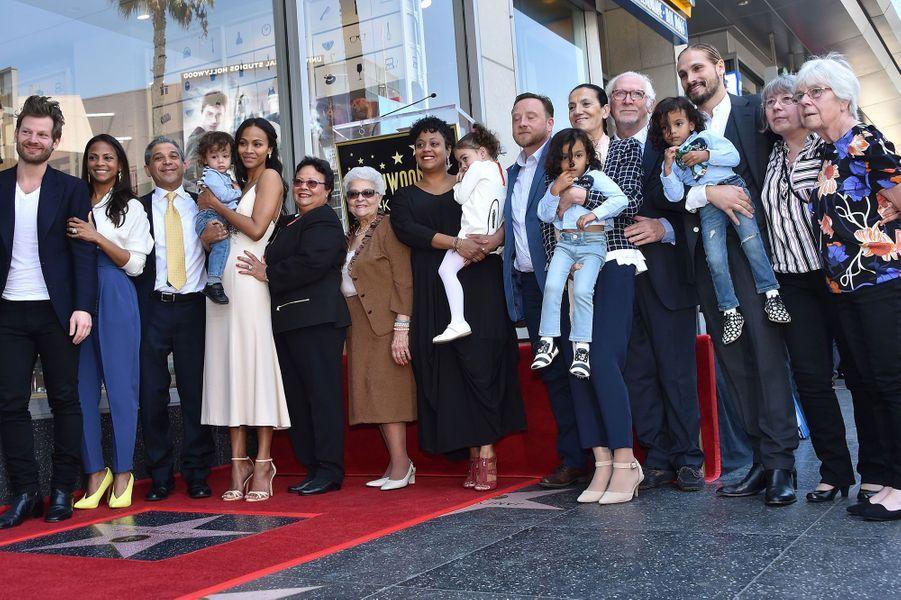 Zoe Saldana et sa famille