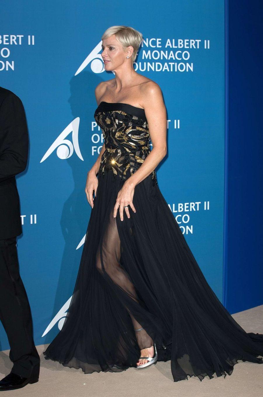 La princesse Charlène de Monaco lors du premier Monte-Carlo Gala pour l'Océan à Monaco, le 28 septembre 2017